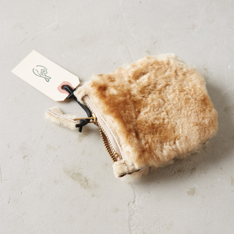 shearling pouch