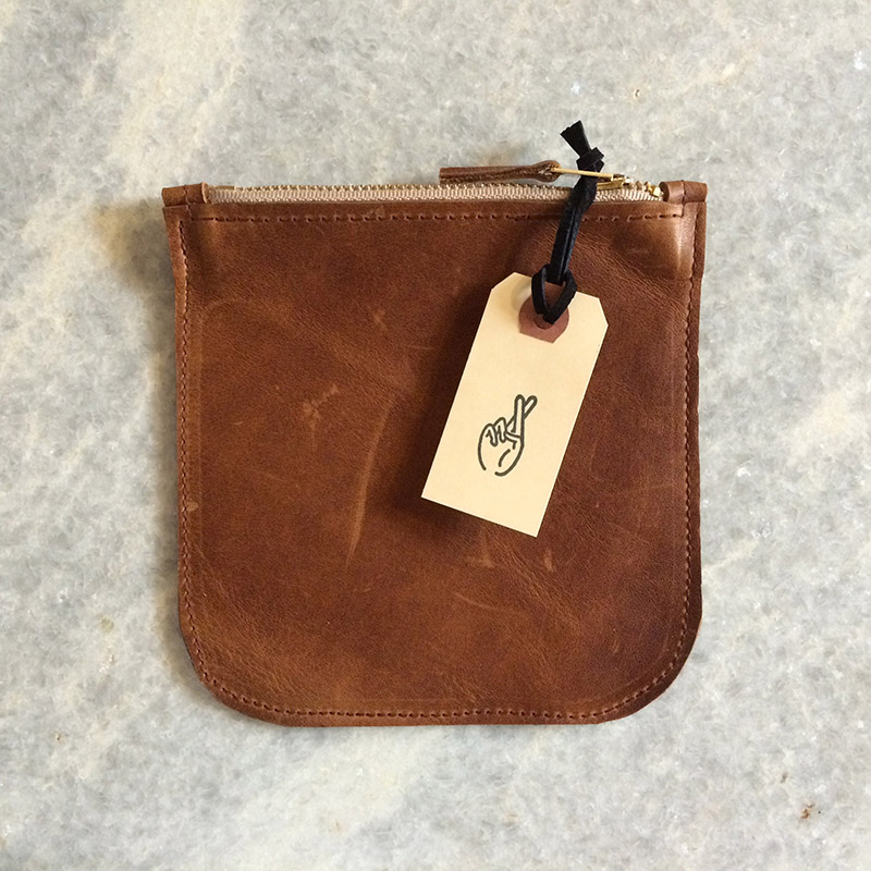 brown 6-inch pouch